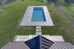 Aerial Pool and Poolhouse